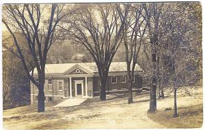 Proctor VT New Library Building Real Photo RPPC Postcard