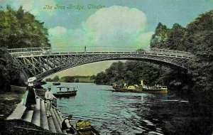 Chester The Iron Bridge River Boats Postcard