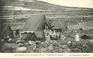 Arctic North Pole Expedition, Encampement on Spitsbergen Svalbard Norway (1906)
