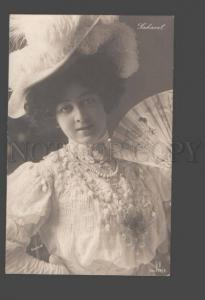 090611 SAHARET Belle DANCER w/ FAN Vintage PHOTO Gerlach