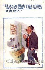 Artist Donald McGill, Cork Screw Comic Comical Carte, Postal 1955