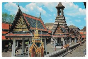 Thailand Bangkok Inside Temple of Emerald Buddha Postcard