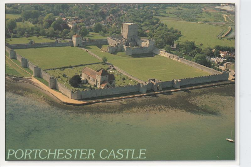 Portchester Castle Hampshire, England - From the Air