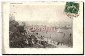 Old Postcard Treport Fleet Review 1843