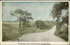 Rushville PA General Greeting c1920 Postcard