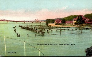 Michigan Detroit Belle Isle Park Bathing Beach