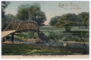 Chicago Heights, Ill, Rustic Bridge, Thorn Creek