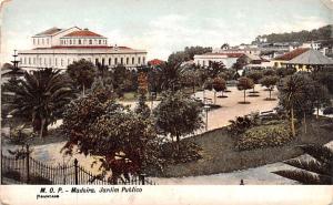 Spain Old Vintage Antique Post Card Jardim Publics Madeira Unused