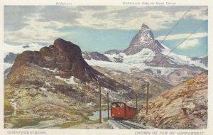 VALAIS, Switzerland, 1900-10s; Riffelhorn, Matterhorn (4482 m) Mont Cervin, G...