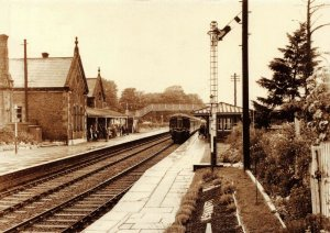 Postcard Llanrwst Railway Station on the Llandudno Junction, Blaenau Line 55V