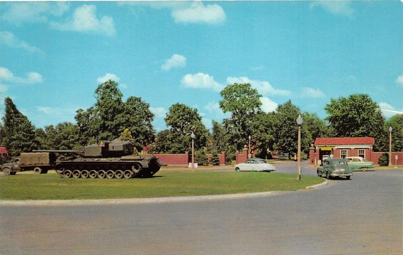 Fort Knox Kentucky~Entrance to Armor Center~Army Tank on Display~Truck~1958 Pc