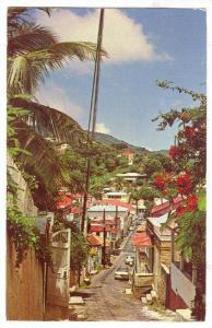 Street Scene St. Thomas, Virgin Islands,  PU-1984