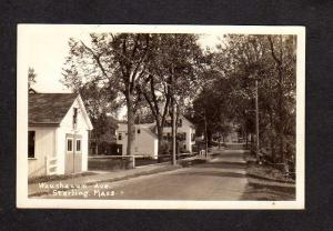 MA Waushacum Ave,Sterling Mass Massachusetts Postcard Real Photo RPPC RP