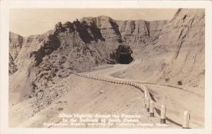RP, Scenic Highway Through The Pinnacles, In The BADLANDS, South Dakota, PU-1934