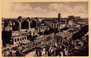 Italy Roma Roman Forum The Maxentius Basilica Postcard