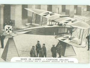 1920's Military WWI GERMAN AIRPLANE AT ARMORY MUSEUM IN PARIS FRANCE AC3650
