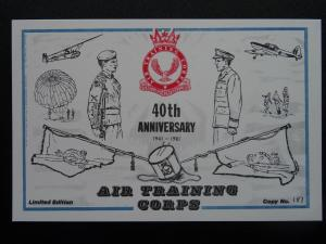 Youth Orgs AIR TRAINING CORPS 40th ANNIVERSARY Commemorative c1981 Postcard