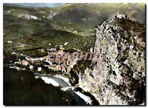 Postcard Modern Lower Alps Castellane General view and Notre Dame du Roc