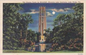 Florida Lake Wales The Singing Tower By Moonlight Mountain Lake Sanctuary 1941