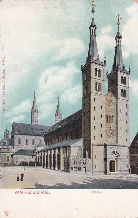 WURZBURG, Dom, Bavaria, Germany, 10-20s