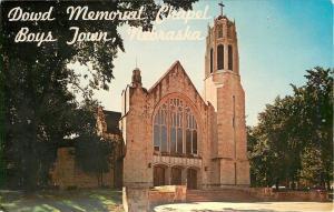 Boys Town NE~Dowd Memorial Chapel~1950s~Postcard