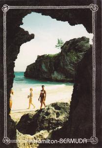 Bermuda Hamilton Beach Scene