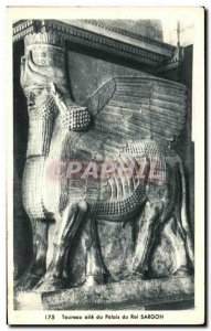 Postcard Modern Bull wing of the Palace of King Sargon