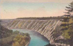 New York Castle Genesee River High Banks Above Mount Morris Dam Site Letchwor...