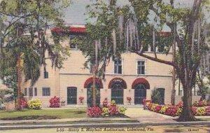 Florida Lakeland The Harry S Mayhall Auditorium