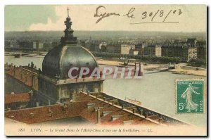 CARTE Postale Old Lyon Grand Dome of the Hotel Dieu and view Guillotiere