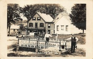 Washington ME Drug Store Horse & Delivery Wagon Cunningham Real Photo Postcard