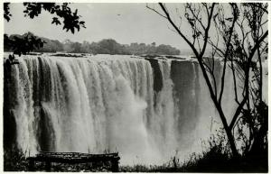 rhodesia, VICTORIA FALLS, View of the Main Falls (1940s) RPPC