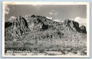 Postcard NM Lordsburg Greetings From New Mexico RPPC Real Photo H26