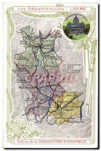 Postcard Old MAPS Chocolaterie d & # 39Aiguebelle St Etienne Loire