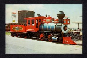 FL Petticoat Junction Railroad Train Loco 9 Panama City Florida Postcard RR PC