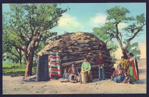 Navajo Indian Family w/Hogan unused c1939