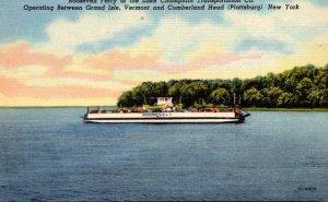 New York Plattsburg Lake Champlain Transportation Company Roosevelt Ferry Cur...