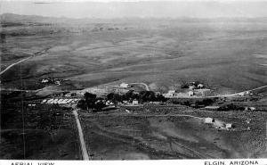 Airview Elgin Arizona 1950s RPPC Photo Postcard 3382