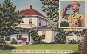 Kansas Abilene Residence Of Mother Of General Dwight D Eisenhower