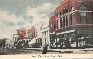LP61 Sparta Wisconsin Vintage Postcard South Water St