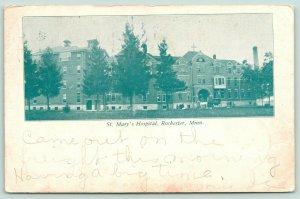 Rochester MN Came on Freight Train~Panorama St Mary's Hospital~1907 Racine Minn