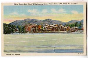 Winter Scene, Lake Placid Club NY
