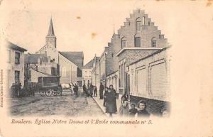 Roulers Belgium Notre Dame Church Street Scene Antique Postcard J48800