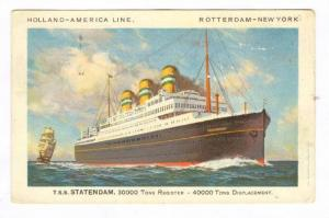 Ocean Liner T.S.S. STATENDAM, Holland-America Line, 20-30s