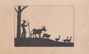 Farmer & animals , 1947