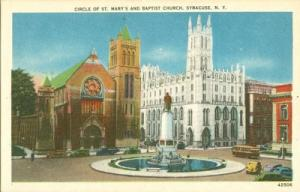 Circle of St. Mary's and Baptist Church, Syracuse, New Yo...