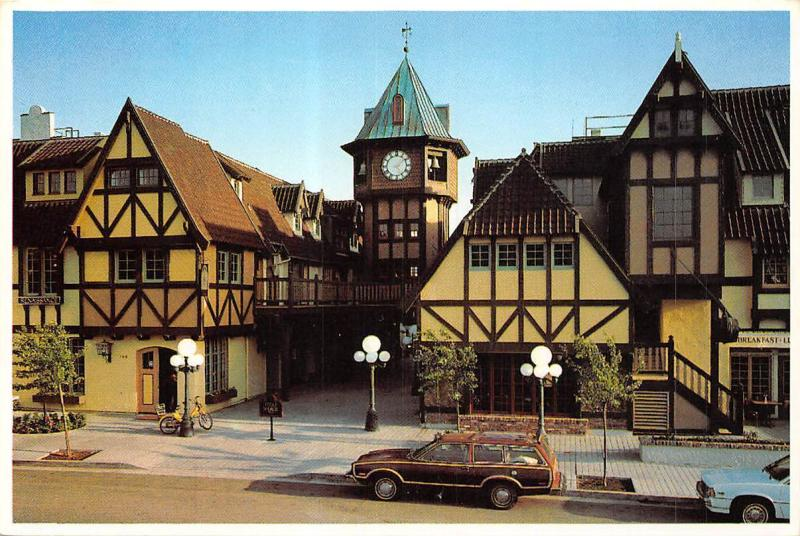 USA The Clock Tower Restaurant Trivoli Square in Solvang California Cars