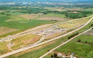 KS - Topeka. Aerial View of Turnpike Service Area