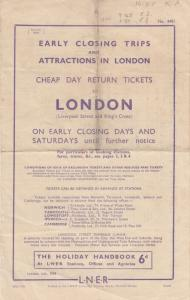 Liverpool To Colchester LNER Antique Timetable Train Liverpool Street