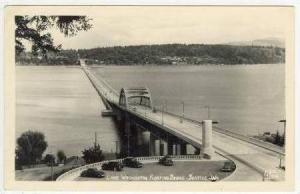 RP   Floating   Bridge, Lake Washington, Seattle, Washintgton, 30-40s, ELLIS ...